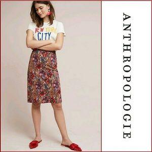 Maeve Golden Bliss Floral Pencil Skirt